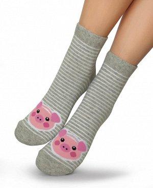 Женские носки-носочки 406 размер 23-25 Цвет Беж