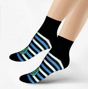 Женские носочки 304 размер 23-25 чёрный