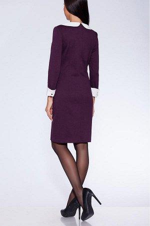 #34589 Платье Темно-бордовый