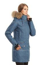 Женская куртка-парка Azimuth B 8324_40 Джинс
