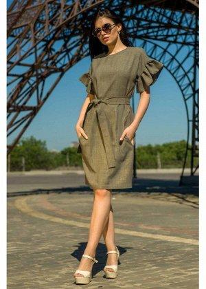 Летнее платье-лен