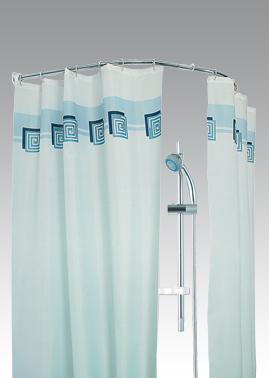 Карниз д/ванной овальный 120х120см хромированный 1/30