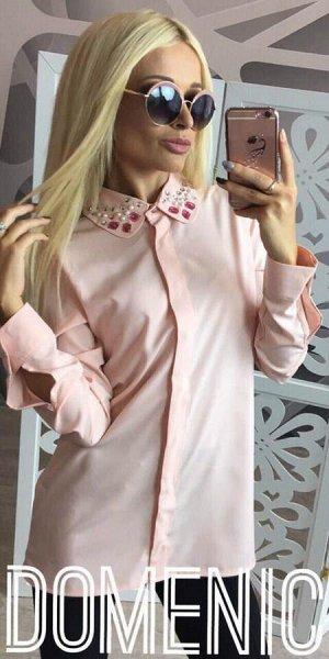 Domenica - Стильная блуза с камушками