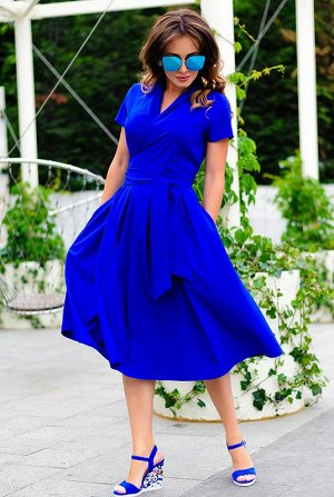 Повседневное летнее платье Бритни электрик