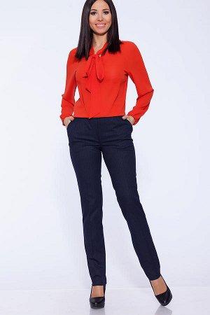 Стильные синие в полоску брюки
