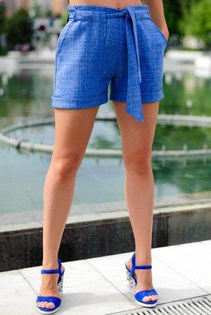 Классические шорты с отворотом Гаванна  голубые