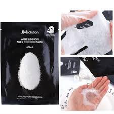 JMsolution Water Luminous Silky Cocoon Mask Black Маска для упругости кожи с протеинами шелка и экстрактом шелкопряда 30 мл