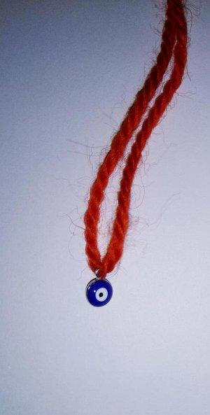 Красная нить-оберег с глазом Фатимы (синий2)