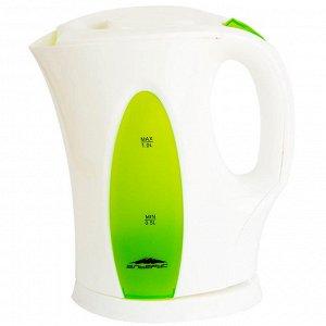 Чайник электрический 1л Эльбрус-3 белый с зеленым (Р)