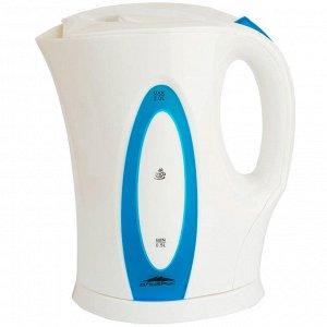 Чайник электрический 2л Эльбрус-4 белый с синим (Р)