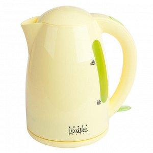 Чайник электрический 1,7л  DL-1302 зелено-желтый