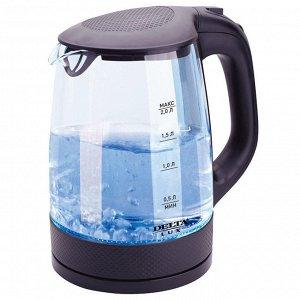 Чайник электрический 2200 Вт, 2 л  LUX DL-1058B черный
