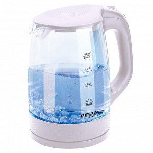 Чайник электрический 2200 Вт, 2 л  LUX DL-1058W белый