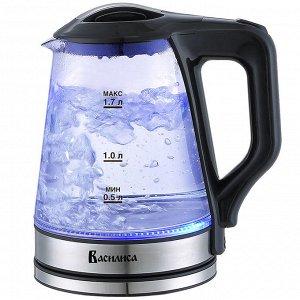 Чайник электрический 2000 Вт, 1,7 л ВАСИЛИСА ВА-1030 черный