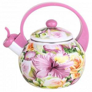 """Чайник  2,5 л со свистком """"Орхидея"""" ЕМ-25001/8"""