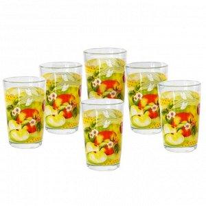 """Набор  из 6 стаканов 270мл """"Спелые фрукты"""" 00097S/6-ST в цветной коробке"""