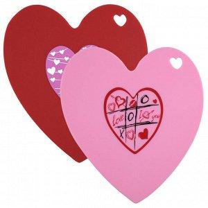 """Подставка силиконовая термостойкая в форме сердца 2цвета """"Готовим с удовольствием"""" ВЕ-0244S"""