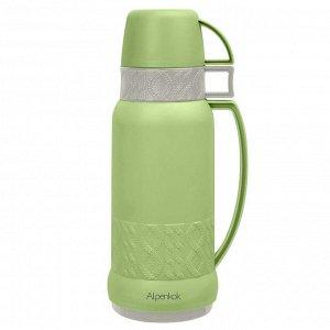 Термос 1,8л Alpenkok AK-18001S зеленый с серым матовый