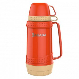 Термос 1,8л Забава РК-1803 оранжевый с бежевым
