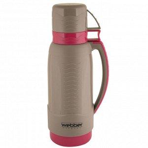 Термос 1,0л Webber 31003/10S серый с розовым