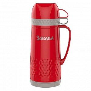 Термос 1,0л Забава РК-1001 красный с серым