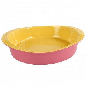 Керамическая форма для запекания АК-6018С розовая