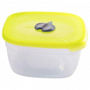 Емкость для СВЧ квадратная 1л с паровыпускным клапаном ПЦ2212ЛМН лимон