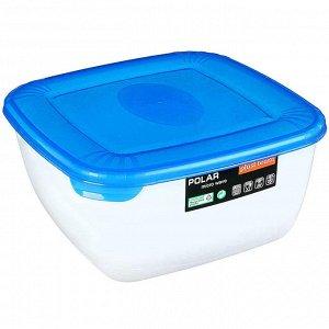 Ёмкость для СВЧ квадратная 2,5л POLAR MICRO WAVE РТ9677ГПР-10РN голубая прозрачная