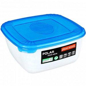 Ёмкость для СВЧ квадратная 0,46л POLAR MICRO WAVE РТ9674ГПР-25РN голубая прозрачная