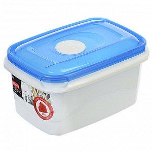Ёмкость для СВЧ прямоугольная 0,6л MICRO TOP BOX PT1541ГПР-20РN голубая прозрачная