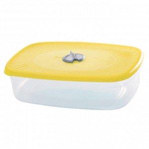 Емкость для СВЧ квадратная 0,75л с паровыпускным клапаном ПЦ2327ЛМН-44PS лимонная