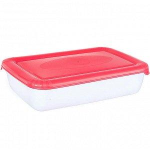 Ёмкость для СВЧ и хранения продуктов прямоугольная 1,9л POLAR MICRO WAVE РТ9672КОРАЛ-12РN коралловая