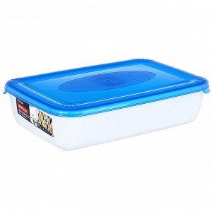 Ёмкость для СВЧ и хранения продуктов прямоугольная 3л POLAR MICRO WAVE РТ9673ГПР-10РN голубая прозрачная