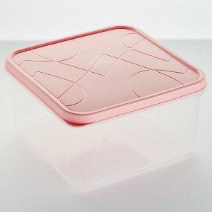 Контейнер для продуктов 0,7л квадратный VITAMINO GR1854КЛ клубничный лед