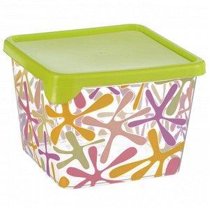 Ёмкость 0,75 л для продуктов квадратная ДЕКО М1448 салатовая