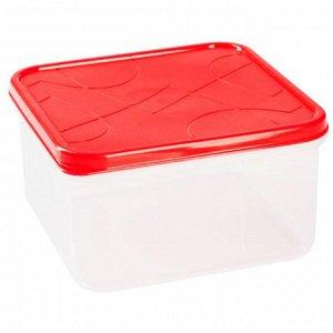 Контейнер для продуктов 1,2л квадратный VITAMINO GR1855ЧЕРРИ черри