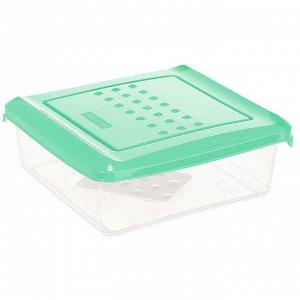 Ёмкость для хранения продуктов квадратная 0,5л PATTERN РТ1096/КМТ-20 мятная