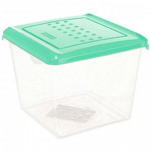 Ёмкость для хранения продуктов квадратная 1л PATTERN РТ1097/КМТ-20 мятная