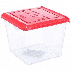 Ёмкость для хранения продуктов квадратная 1л PATTERN РТ1097КОРАЛ-20РN коралловая