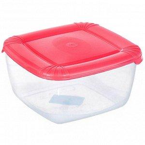 Емкость для хранения пищевых продуктов POLAR квадратная 0,46л РТ1674КОРАЛ-25PN коралловая