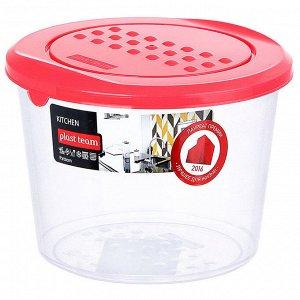 Ёмкость для хранения продуктов круглая 0,8л PATTERN РТ1099КОРАЛ-22РN коралловая