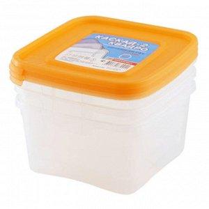 """Комплект контейнеров квадратных 3штуки """"КАСКАД-2"""" 1л 67001"""
