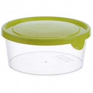 Набор емкостей круглых для продуктов 3штуки 0,75л М1441 салатовый