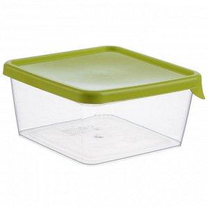 Набор емкостей квадратных для продуктов 3штуки 0,75л М1444 салатовый