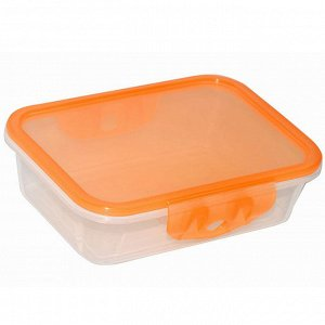 Контейнер для продуктов 500 мл прямоугольный 19205/16 оранжевый