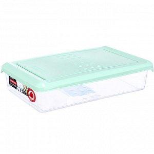 Ёмкость для хранения продуктов прямоугольная 0,75л PATTERN PT1094/КМТ-20 мятная