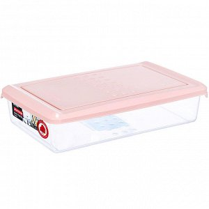 Ёмкость для хранения продуктов прямоугольная 0,75л PATTERN PT1094/КПД-20 пудровая