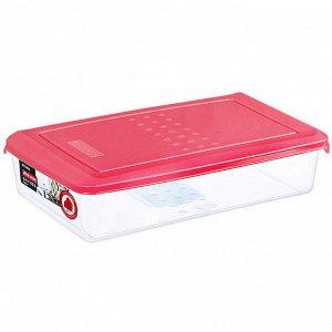 Ёмкость для хранения продуктов прямоугольная 0,75л PATTERN PT1094КОРАЛ-20РN коралловая