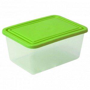 Емкость для продуктов прямоугольная 0,8л салатовая М1451