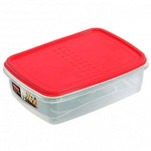 Ёмкость для хранения продуктов прямоугольная 1.3л PATTERN FLEX PT1132КОРАЛ-12 коралловая
